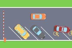 Auto's in het parkeerterrein Stock Afbeeldingen