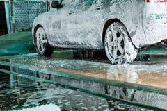 Auto's het wassen Royalty-vrije Stock Foto