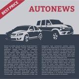 Auto's met tekstmalplaatje Royalty-vrije Stock Foto's