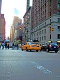 Auto's in New York Stock Foto's