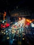 Auto's op asfalt stock fotografie