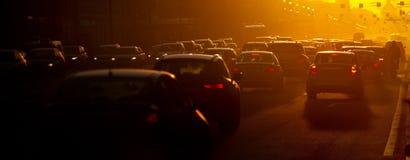 Auto's op asfalt Royalty-vrije Stock Foto