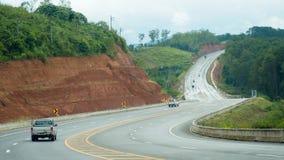 Auto's op bergweg, Thailand Royalty-vrije Stock Fotografie