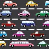 Auto's op de weg Royalty-vrije Stock Foto's