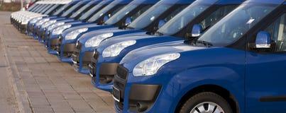 Auto's op een rij Stock Afbeelding