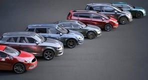 Auto's op een rij Royalty-vrije Stock Foto