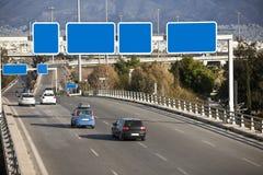 Auto's op weg Stock Afbeelding