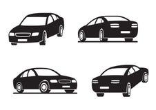 Auto's in perspectief Royalty-vrije Stock Foto
