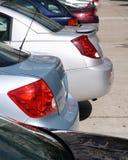 Auto's in rij Royalty-vrije Stock Afbeeldingen