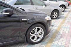 Auto's in rij Royalty-vrije Stock Foto
