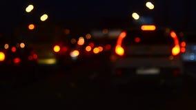 Auto's in verkeer stock footage