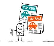 Auto's voor huur of verkoop royalty-vrije illustratie