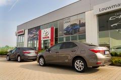 Auto's voor Toyota-de het handel drijvenbouw van het motorbedrijf Stock Fotografie