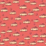 Auto's voor vakantie op naadloze achtergrond Royalty-vrije Stock Fotografie