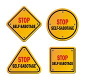 Auto-sabotage d'arrêt - roadsigns illustration libre de droits