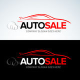 Auto sale car logo template, Auto Cars,Car logo,Speed,automotive,auto services logo,car care logo,  Vector Logo Template. Red, black and white colors Royalty Free Stock Photos
