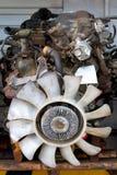 Auto Salvage Repair Engine Blocks Royalty Free Stock Image