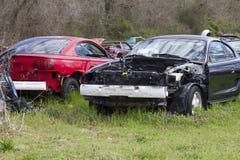 Auto Salvage Yard 1994-1998 Mustangs Royalty Free Stock Photo