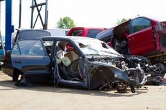 Auto sammanstötningsskrotdetalj Royaltyfri Foto