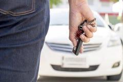 Auto-Schlüsselaustausch Stockbild