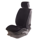 Auto seat under black cover Royalty Free Stock Photos
