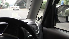 Auto-seitlicher Spiegel stock video