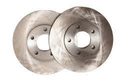 Auto service. Brake disks for modern car isolated Royalty Free Stock Photo
