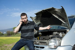 Auto service call Royalty Free Stock Photos