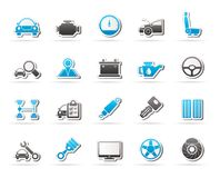 Auto service and car part icons. Vector icon set Stock Images