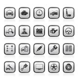 Auto service and car part icons Royalty Free Stock Photography