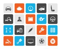 Auto service and car part icons stock image