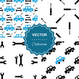 Auto service or car repair seamless pattern Stock Photography