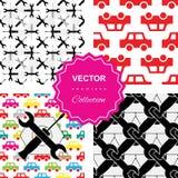Auto service or car repair seamless pattern Stock Photos