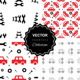 Auto service or car repair seamless pattern Royalty Free Stock Image