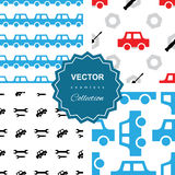 Auto service or car repair seamless pattern Royalty Free Stock Images
