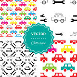 Auto service or car repair seamless pattern Royalty Free Stock Photos