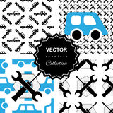 Auto service or car repair seamless pattern Royalty Free Stock Photo