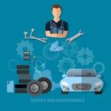 Auto service, car repair service Stock Image