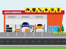 Auto service center Stock Images