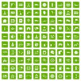 100 auto service center icons set grunge green. 100 auto service icons set in grunge style green color isolated on white background vector illustration Royalty Free Stock Image