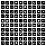 100 auto service center icons set, grunge style. 100 auto service icons set in grunge style vector illustration vector illustration