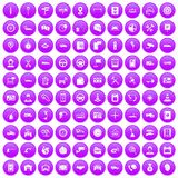 100 auto service center icons set purple. 100 auto service icons set in purple circle isolated on white vector illustration vector illustration
