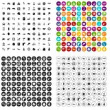 100 auto service center icons set vector variant. 100 auto service icons set vector in 4 variant for any web design isolated on white Stock Photo