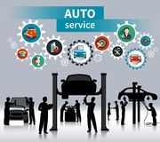 Auto Service Concept Background Stock Photo
