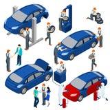 Auto Service Concept Set Royalty Free Stock Image