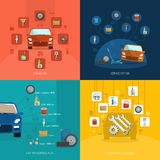 Auto Service Design Concept Stock Image