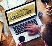 Auto-Service-Festlegungs-Wartungs-Garage, die Konzept repariert Stockfoto