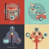 Auto Service Flat Stock Image
