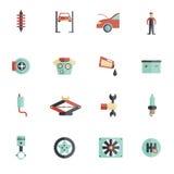 Auto Service Flat Icon Stock Image