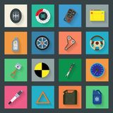 Auto service flat icons set Royalty Free Stock Photo